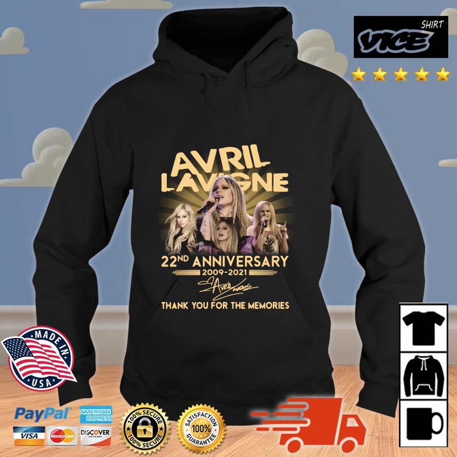 Avril Lavigne 22nd Anniversary 2009 2021 Signature Thank You Shirt Vices hoodie den