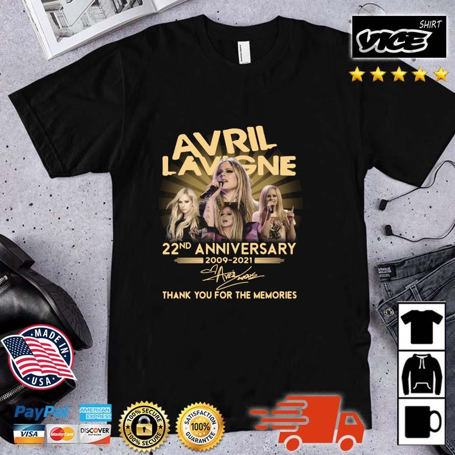 Avril Lavigne 22nd Anniversary 2009 2021 Signature Thank You Shirt