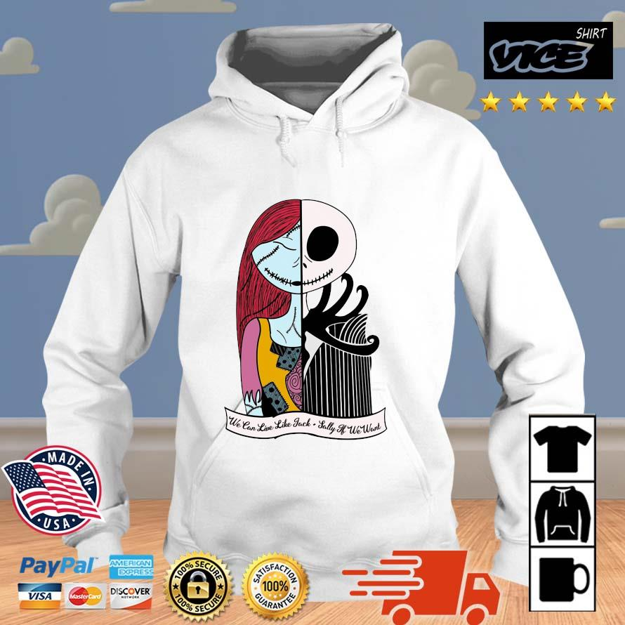 Jack Skellington And Sally We can live Jack Sally Vices hoodie trang