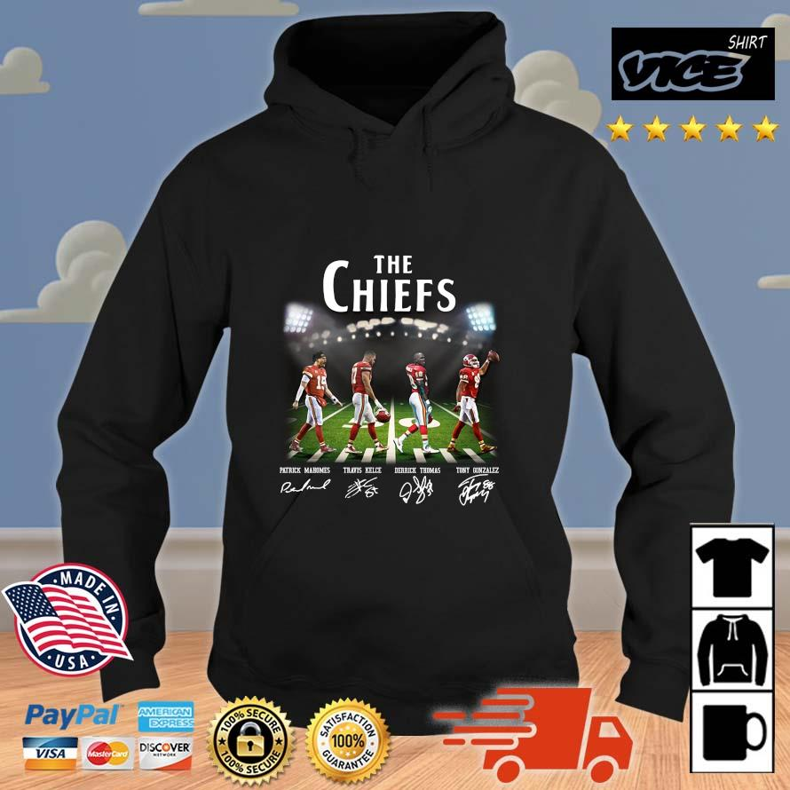 The Chiefs Abbey Road Patrick Mahomes Travis Kelce signatures Vices hoodie den