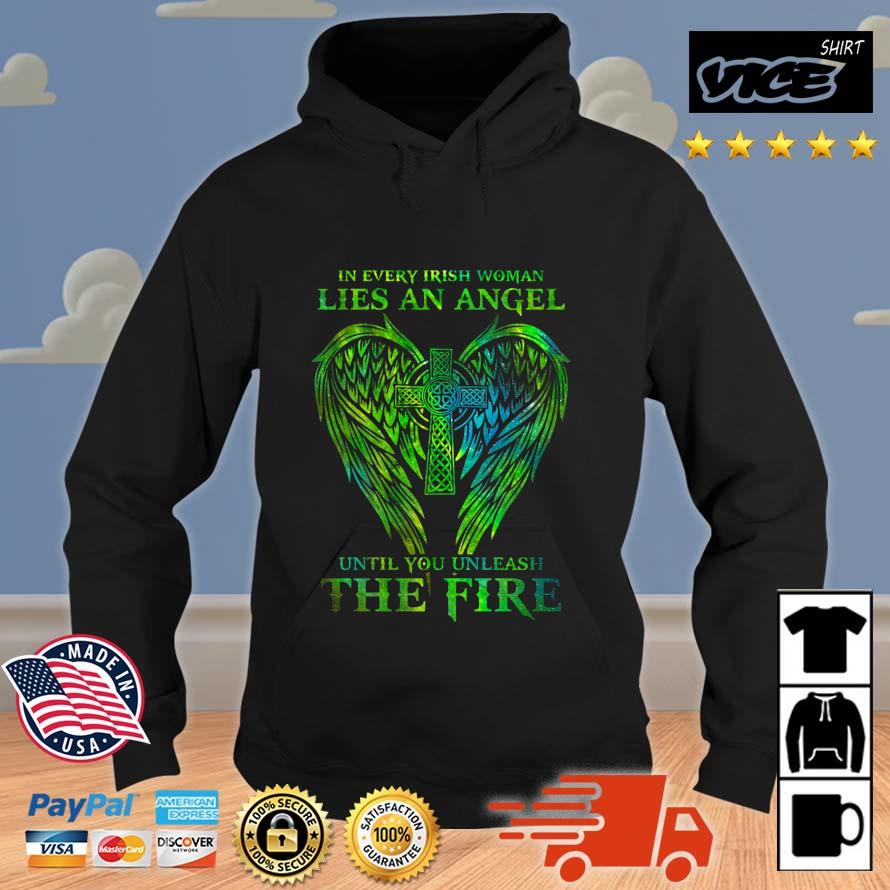 Wings in every irish woman lies an angel until you unleash the fire Vices hoodie den