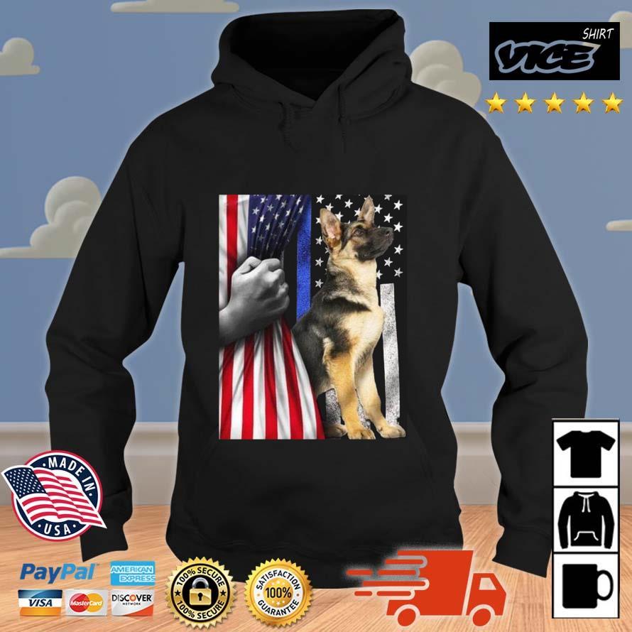 American Flag Patriotic German Shepherd Shirt Vices hoodie den