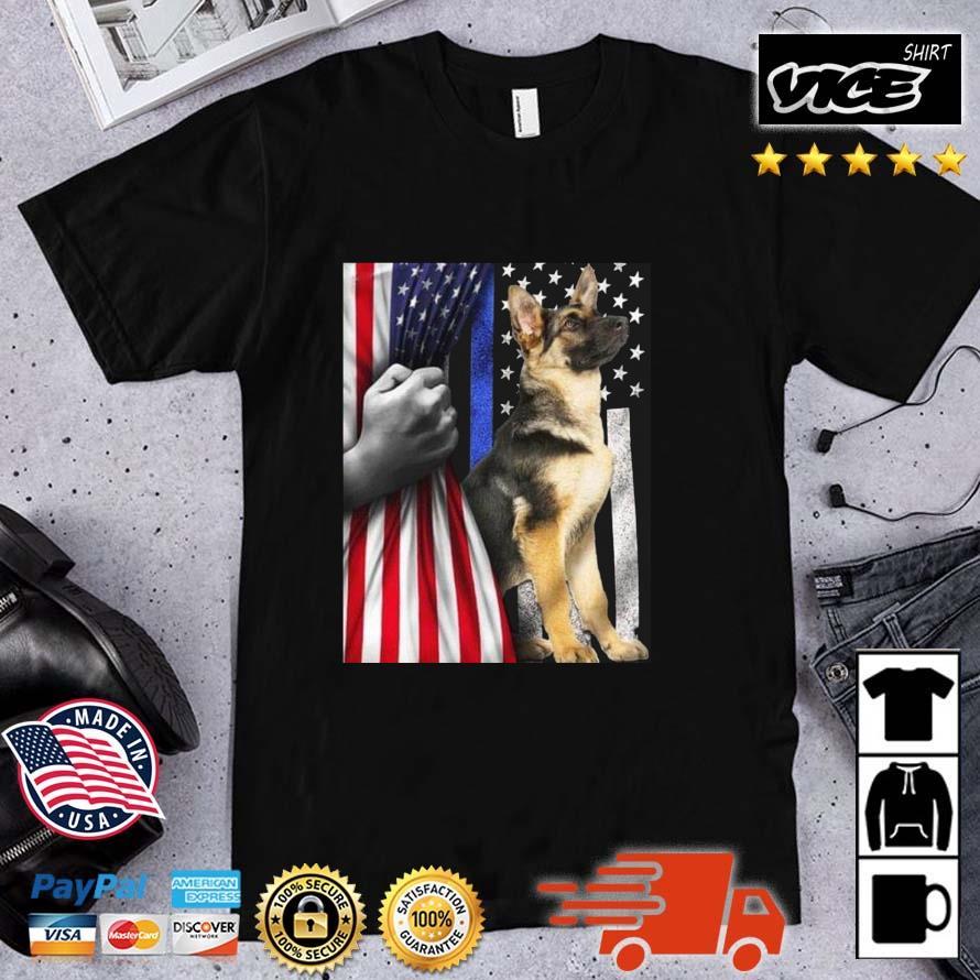American Flag Patriotic German Shepherd Shirt